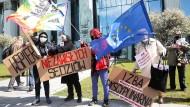 Demonstration in Warschau im Mai vor dem Obersten Gericht