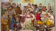Das Misstrauen gegen Impfungen ist offenbar eine anthropologische Konstante: James Gillray gab 1802 in einer Karikatur der Befürchtung mancher Teile des Publikums Ausdruck, ein aus Kuhpocken-Erregern gewonnener Impfstoff verwandele die damit Behandelten in Kühe.