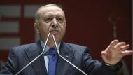 Er hat mit dem Feuer gespielt: Der türkische Präsident Tayyip Erdogan am Donnerstag in Ankara