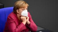 Angela Merkel am vergangenen Donnerstag im Bundestag.