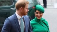 Harry und Meghan bei ihrer letzten offiziellen Veranstaltung als Mitglieder des britischen Königshauses