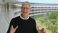 Geldsegen für Apple-Chef Tim Cook: Seine Firmenanteile sind über 38 Millionen Dollar wert.