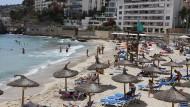 Risikogebiet: der Strand Cala Major in Palma