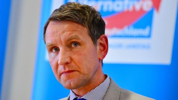 © dpa Björn Höcke ist auch bei den eigenen Parteianhängern umstritten.