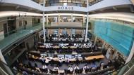 Vollbesetzt: Die Stuttgarter Börse vor der Corona-Pandemie