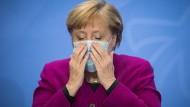 Bundeskanzlerin Angela Merkel (CDU) während der Pressekonferenz am Mittwoch in Berlin
