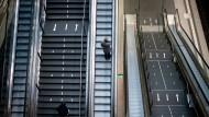 Leere im Berliner Hauptbahnhof