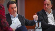Otto-Vorstandsmitglied Sebastian Klauke (mitte) im Januar auf der Digitalkonferenz DLD in München