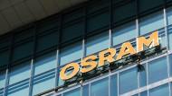 Logo am Hauptsitz von Osram in München