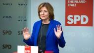 Will sich auf ihr Bundesland Rheinland-Pfalz konzentrieren: Die derzeitige Bundes-Vorsitzende der SPD Malu Dreyer