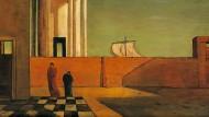 """""""Das Rätsel der Ankunft"""", gemalt 1912 von Giorgio de Chirico: Nach diesem Werk benannte der Schriftsteller V. S. Naipaul seinen Roman von 1987."""