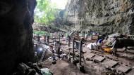 Ausgrabungen auf der Insel Luzon, im Jahr 2011.