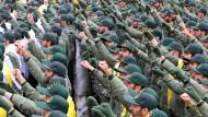 Vor zwei Tagen feierte die iranische Revolutionsgarde am Jahrestag der islamischen Revolution ihr vierzigjähriges Bestehen (Symbolbild).