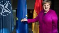 Angela Merkel am Samstag auf der Münchner Sicherheitskonferenz