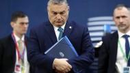 Viktor Orban, Ministerpräsident von Ungarn, Ende Februar auf einem EU-Sondergipfel zum europäischen Haushaltsrahmen in Brüssel