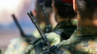 Soldaten der Bundeswehr beim Appell