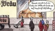 Karikatur/ Greser und Lenz/ Die Rettung naht