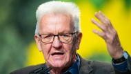 Winfried Kretschmann am 16. November 2019 auf dem Parteitag der Grünen in Bielefeld