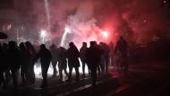 Leipzig am Samstagabend: Rund 1600 Menschen demonstrieren gegen die Schließung der Onlineplattform indymedia