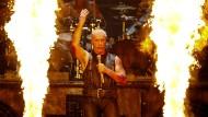 Rammstein-Frontman Till Lindemann bei einem Live-Auftritt.