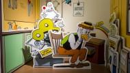 Ein Abbild der Comicfigur Daniel Düsentrieb