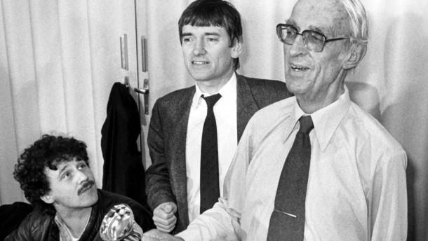 Fraktionssitzung der Grünen 1983