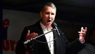 Thüringer AfD-Vorsitzender Höcke in Dresden, der Wortführer des völkisch-nationalen Flügels