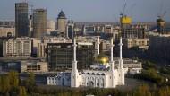 Blick auf das alte Astana und das neue Nursulatn