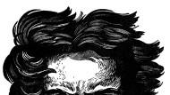 All die wilden Haare: Beethoven in einer Buchillustration