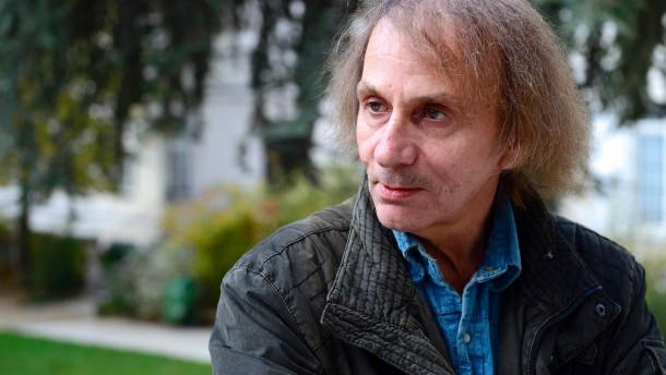 Schriftsteller Michel Houellebecq in Paris. ©AFP