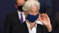 EZB-Präsidentin Christine Lagarde versucht zu beruhigen.