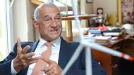 Willi Balz zu besseren Zeiten von Windreich im Jahr 2013