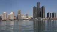 Radioaktive Schadstoffe im Wasser? Die Bewohner der Stadt Detroit beziehen ihr Trinkwasser auch aus dem Detroit River.
