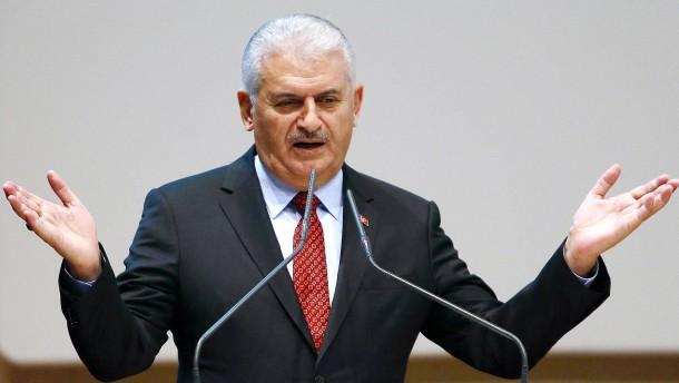 © AFP Der türkische Ministerpräsident Binali Yildirim
