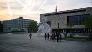 Aufgeheizte Stimmung: Der Campus der Goethe Universität im Frankfurter Westend