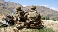 Amerikanische Soldaten im Juni 2019 an einem Beobachtungspunkt in der Provinz Wardak.