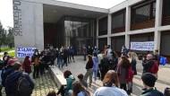 Eine Demonstration gegen Islamophobie im März vor der Universität Grenoble