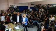 Der Oppositionskandidat Ekrem Imamoglu bei der Stimmabgabe am Sonntag in Istanbul