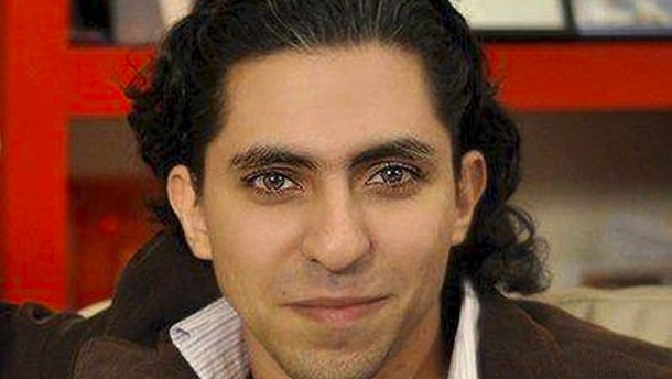 Handout photo of Saudi blogger Raif Badawi provided by Amnesty International