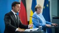 Selenskyj und Merkel am Montag in Berlin