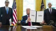 Mehr Sanktionen: Trump unterzeichnet am Montag neue Strafmaßnahmen gegen Iran.