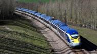 Noch geht es flott voran: Der Eurostar macht Meter.