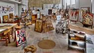 Je mehr er arbeitete, umso mehr Lust hatte er zu arbeiten: Das sieht man Joan Mirós Atelier auf Mallorca bis heute an.