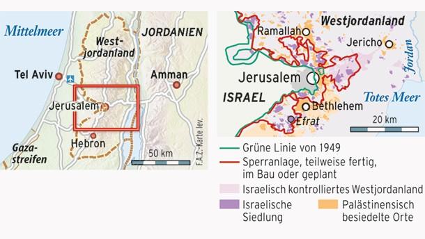 Karte / Westjordanland