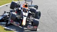 Der Zweikampf produziert auch unschöne Bilder, wie beim Grand Prix in Monza.