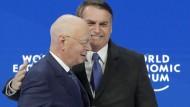 Brasiliens Präsident Jair Bolsonaro und WEF-Chef Klaus Schwab in Davos.