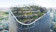 Gärten in 180 Meter Höhe: Der Atlassian-Turm in Sydney soll neue Maßstäbe setzen, nicht nur durch das Baumaterial Holz.