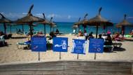 Vorsicht am Meer: Sicherheitshinweis an Strand von El Arenal