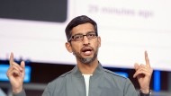 Sundar Pichai ist seit 2015 Google-Chef und rückt jetzt auch an die Spitze der Dach-Holding Alphabet.