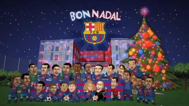 The Bara Toons wish you a Merry Christmas  FC Barcelona